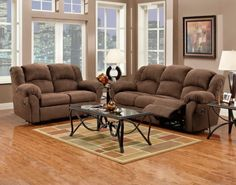Living Room:Awesome Sofa And Loveseat Recliner Sets Sofa And Loveseat Recliner  Sets Brown Color