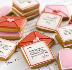Valentines Day Cookies - so cute!