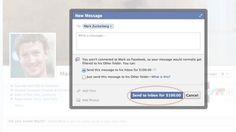 Facebook cobra US$ 100 para enviar mensagem para Mark Zuckerberg