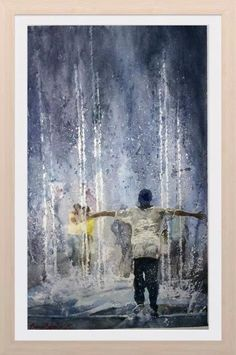 Dariusrafaello watercolor on winsor&newton paper 300gr lana 38x56 ''the happiness''