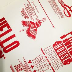 Already had to reprint Hello Darlin' cards - so typeset & printed some business cards and Pioneer House dodgers. Wet Ink.