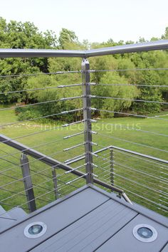 This square Miami fascia system melds seamlessly with the beautiful landscape. The cable railing does not obstruct the homeowner's view while looking sleek and modern itself. http://gallery.inlinedesign.us/albums/151-jorge-mo #cablerailing #railing #stainlesssteel #glass #glassrailing #custom #interior #exterior #round #square #modern #architecture #design #stainless #steel #moderndesign #contemporary #diy #inlinedesign #seattle #westcoast More info can be found at inlinedesign.us