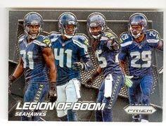 Legion of Boom football card (Seattle Seahawks) 2014 Prizm Chrome #200 Richard Sherman Kam Chancellor Earl Thomas Byron Maxwell