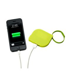 Leaf Universal Charger Let Santa foot the bill for the expensive gadgets—it's your gift that'll save the day when a dead battery strikes mid-outing. The palm-sized charger (for phones, cameras, music players, and anything else with a USB connection) even comes with a detachable wrist strap for hands-free ease. Available in three colors.  To buy: $39, uncommongoods.com.