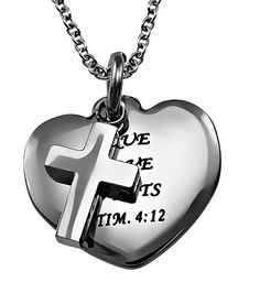 'True Love Waits' Sweetheart Necklace on SonGear.com - Christian Shirts, Jewelry