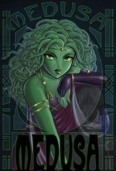 Medusa by Cowkitty Medusa Art, Medusa Gorgon, Medusa Tattoo, Greek Creatures, Mythical Creatures, Female Monster, Monster Girl, Greek Mythology Art, Roman Mythology