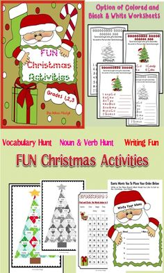 Christmas Activities Fun Pack can be used in your classroom to create fun and to motivate children this December. Motivate the students with these easy and fun worksheets. It includes: 1.Cut and Paste Activity 2. Scrambled Words Activity 3. Crossword Puzzle Activity 4 Menu Writing Activity
