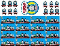 Thomas and Friends Cake Cupcake Border Topper Toppers Set - Fondant Icing