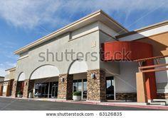 stock photo : Shopping Center Strip Mall