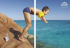 Evian Campaign / Jean-Yves Lemoigne Photographe http://arcreactions.com/a-facebook-fan-is-worth-174-but-dont-buy-them/