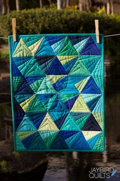 The second of my new mini patterns to share with you is Mini Stereo! Quilt Details Fabric is Kona Solids by Robert Kaufman FabricsPattern - Mini Stereo, JBQ 157Designed by meQuilted by Angela Walters