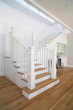 How to Make Ultimate Fabulous Farmhouse Staircase Design House Staircase, Staircase Design, White Staircase, Staircase Ideas, Banisters, Stair Railing, Staircase Spindles, Railings, Banister Remodel