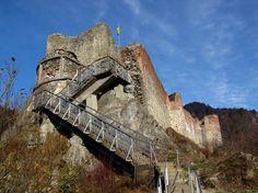 Ruins of Dracula's castle at Poenari in Wallachia