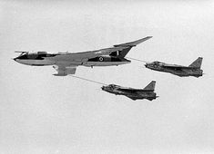 Royal Air Force English Electric Lightning conducting air-to-Air refueling from a Handley-Page Victor at Laverton, 1971