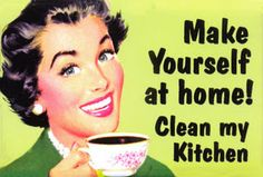Ha! Yes, please, please, please clean my kitchen. #apinparty