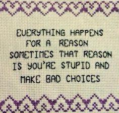 Evil Cross stitch
