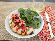 APPLE A DAY: Jalapeño Grilled Chicken with Summer Fruit Salsa