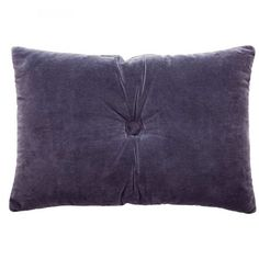 Navy Velvet Button Cushion