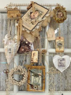 Inspiration. http://the-feathered-nest.blogspot.com Where THIS blogger creates!