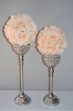 Hey, I found this really awesome Etsy listing at https://www.etsy.com/listing/219318729/set-of-2-silver-bling-rhinestone-flower