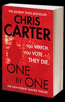 Chris Carter Books - One by One An intense thriller.  Mr Carter sure has some access to sick killers in that imagination of his.  Couldn't put this one down.  5/5