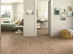 Design, innovation and technology merge in Woodcomfort wood-look tiles. Glazed porcelain stoneware that comes in 4 colours. Wood Effect Tiles, Wood Look Tile, Cork Flooring, Stone Tiles, Stoneware, Tile Floor, Interior Design, Modern, Furniture