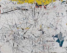 Mark Bradford, Josephine's shoulders, 2010, Mixed media collage on canvas