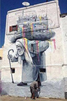 spreadingthebeautiful: In Casablanca, Marocco. Unknown artist. (via I Support Street Art)