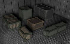 Pick of the day SCI-FI Cargo Boxes Set V2 - W3DC