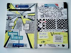 | doodled distraction |  by lici  pigment liner + text marker  my planner