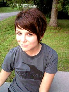 Short hair...still considering going this short. decisions.decisions.