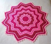 PDF Pattern Crocheted 12Pointed Star Blanket by CatsSoftStitches