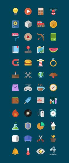 Download 5 Colorful Flat Icons Sets