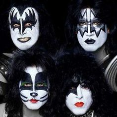 kiss_ with two guys pretending to be in kiss