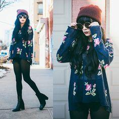 Rachel-Marie Iwanyszyn - Topshop Beanie, Wildfox Sweater, Free Lance Boots - LOST IN MY MIND.