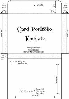 Mirkwood Designs - Card Portfolio Template for a set of cards