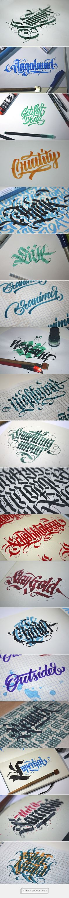 Calligraphy set 2014 on Behance - created via http://pinthemall.net