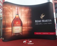 #remymartin Remy Martin, Wall Banner, Exhibition Display, Banner Printing, One Life, Banners, Pop, Bottle, Expo Stand