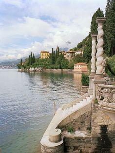European photo of Monastero and reflections in Lake Como, Italy by Dennis Barloga | Photos of Europe: Fine Art Photographs by Dennis Barloga