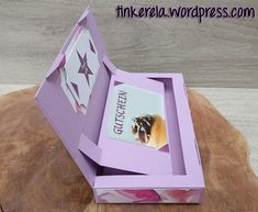 Coupon lift box with instructions - ORIGAMI Candy Apple Bars, Diy Gifts Just Because, Itunes Gift Cards, Origami Box, Gift Card Giveaway, Business Gifts, Stamping Up, Christmas Pictures, Diy Wedding