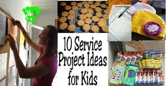 10 Service Projects for Kids - it's so important to teach children to give to others. These are creative ways in which to do so.