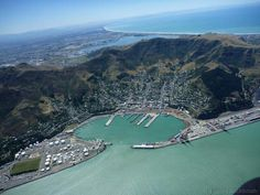 Port Lyttelton Christchurch in back ground Christchurch New Zealand, Homeland, City Photo, Places To Visit, Lost, River, Country, Outdoor, Image