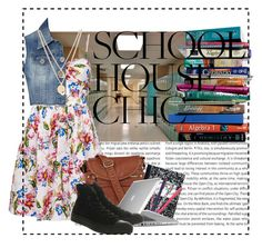 """School house chic"" by cpcinnamon ❤ liked on Polyvore featuring Oris, 7 For All Mankind, Forever New, Jane Norman, Kenneth Cole, Lori's Shoes, Jonathan Adler, Speck and Converse"