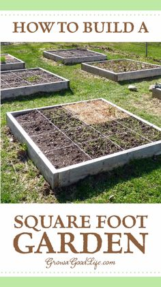garden beds Are you starting a new vegetable garden The square foot gardening method is worth considering if you are just starting a garden or want to expand your garden quickly with no digging or tilling required. Backyard Vegetable Gardens, Veg Garden, Garden Boxes, Garden Landscaping, Outdoor Gardens, Pool Garden, Landscaping Ideas, Indoor Garden, Garden Soil