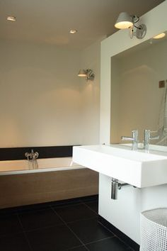 My Houzz: Sophisticated Family Home Breathes Scandinavian Style - contemporary - Bathroom - Amsterdam - Holly Marder