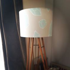 Very excited about our lighting range coming soon! First samples are made and looking right at home! #sparrowandwolf #lighting #lampshade #geometric #quartz #crystals #illustration
