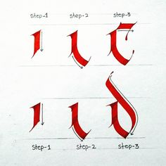 """Step by Step lettering Series for beginners. How to make Alphabet """"c & d"""".Very very easy way for learn calligraphy. Calligraphy Fonts Alphabet, Calligraphy Tutorial, Tattoo Lettering Fonts, Hand Lettering Alphabet, Calligraphy Practice, Learn Calligraphy, Lettering Tutorial, Typography Letters, Lettering Design"""