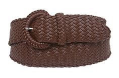 Ladies Braided Woven Belt Size: S/M - 32 Color: Brown Made by #beltiscool Color #Brown