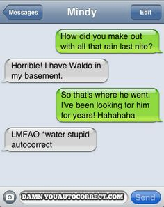 Where's Waldo - Funny Autocorrects