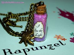 Tangled (Rapunzel), I See The Light Magic Necklace with a Sun Charm Bronze, Disney Inspired, by Life is the Bubbles.